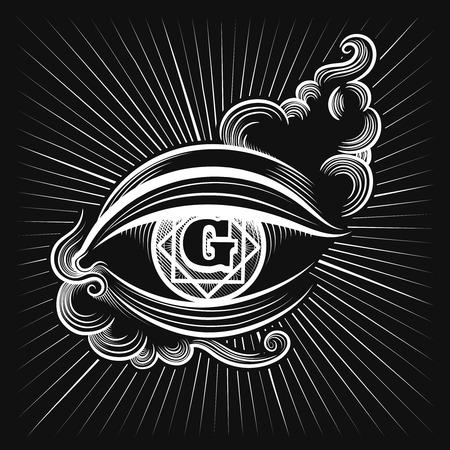 ojo de horus: Egipto ojo dios o vector del ojo espiritual