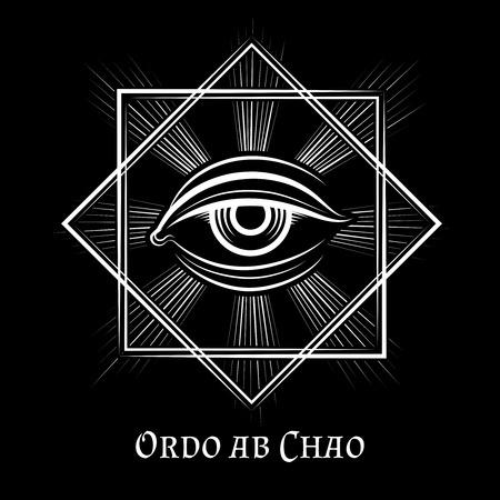 seeing: Eye of Providence masonic symbol. All seeing eye illuminati spiritual vector sign