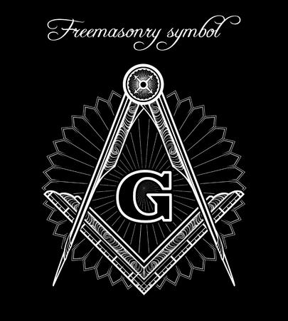 Simbolo massonico. Mistico illuminati segno di fratellanza vettore Archivio Fotografico - 61077096