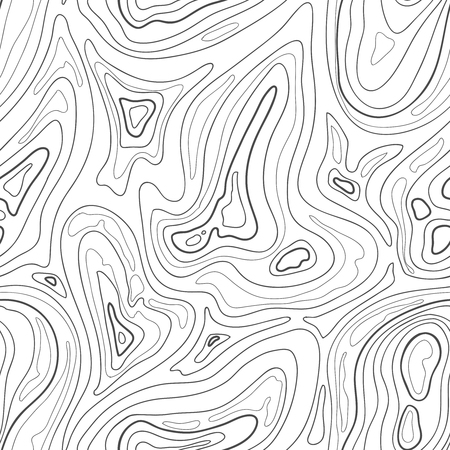 terrain: Contour topographic map background. Vector lines map pattern Illustration