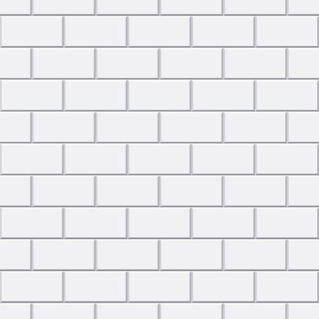 white bathroom: Vector white brick seamless pattern for bathroom or kitchen