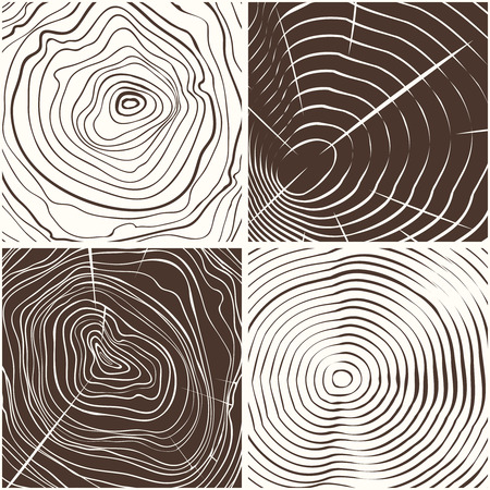 tree rings: Vector wood rings texture or tree rings conceptual background