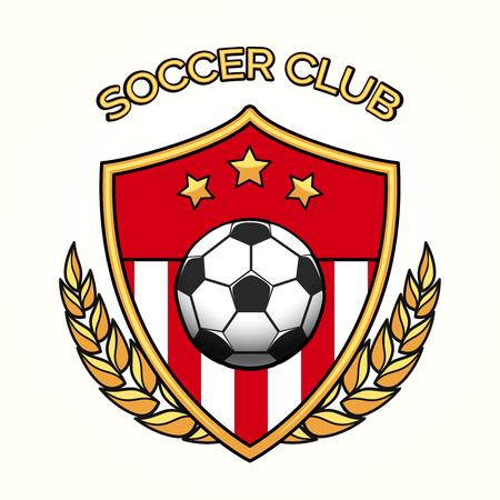 Vector club de fútbol logotipo del equipo de fútbol del emblema o los deportes aislado en el fondo blanco