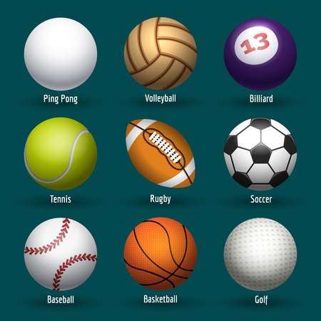 stitching: Vector sports balls for basketball, rugby and soccer. Plastic and leather stitching ball icons