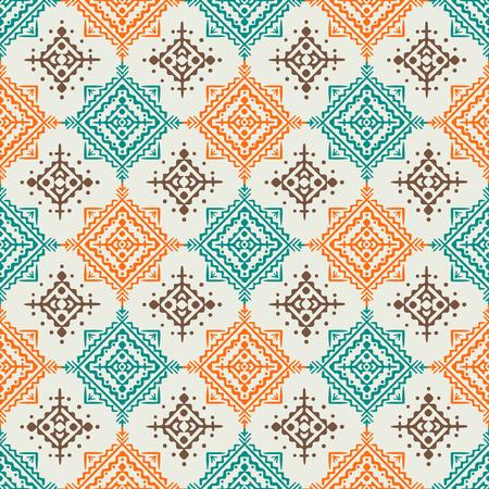 Design pattern senza cuciture stile Boho. Illustrazione vettoriale colorato sfondo ornamentale Archivio Fotografico - 66801909