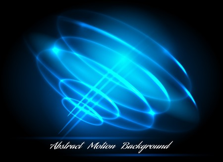 light circular: Glowing blue radial circles light whirl vector illustration. Whirlpool lighted lines abstract effects Illustration