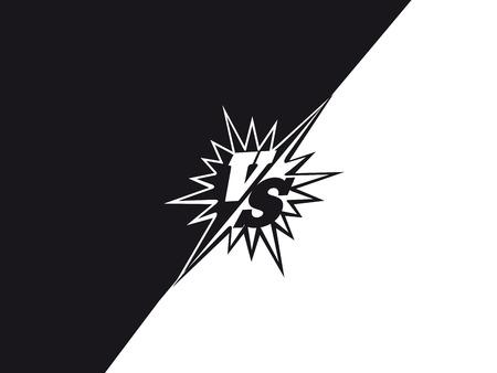 バック グラウンド概念の戦い対黒と白。ベクトル図  イラスト・ベクター素材
