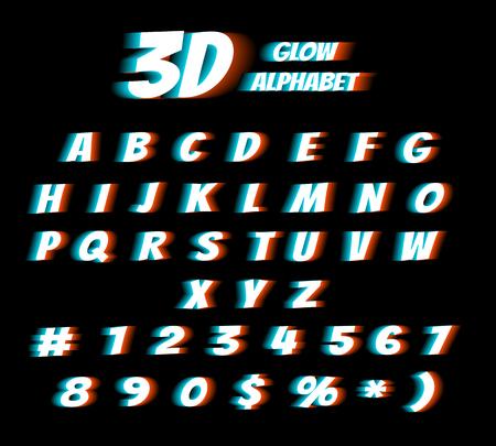 Lunettes de cinéma 3d film numérique distorsion effet vectoriel de distorsion Vecteurs