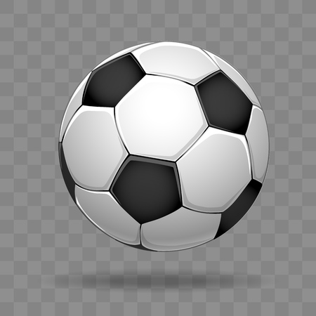 Soccer ball isolated on transparent background, vector illustration Illustration