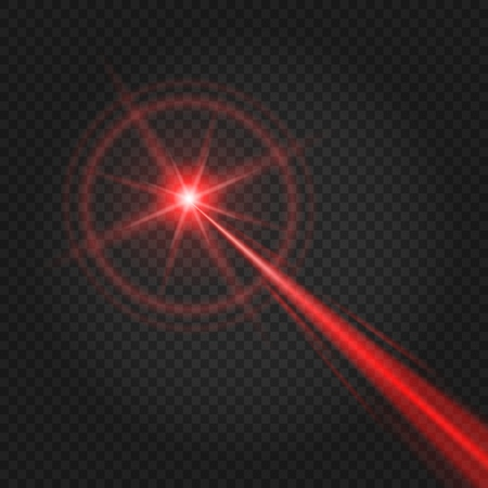 Laser beam. Abstract lasers light for security and scanner effect, vector high lighted beam isolated on transparent background