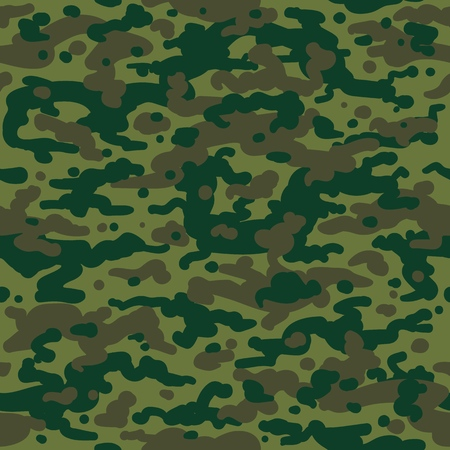 Hunting camouflage pattern. February 23 background, khaki seamless pattern in millitary style, vector background  イラスト・ベクター素材