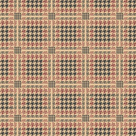 plaid pattern. Houndstooth royal seamless pattern, vector man suit tweed or wool background
