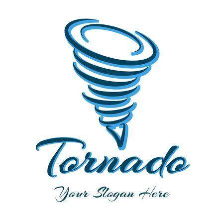 Whirlwind   Cartoon storm design emblem, tornado weather sign, wind hurricane symbol, cyclone power company symbol, vector illustration