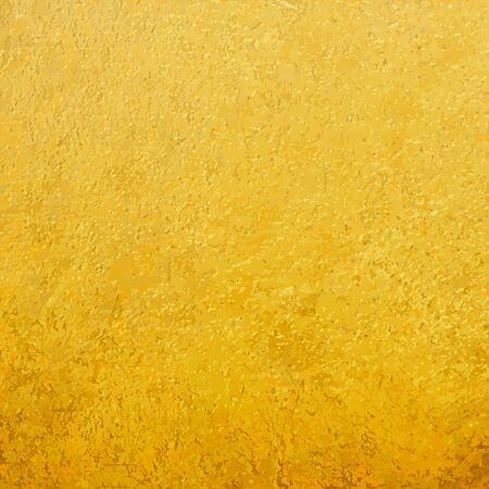 Luxus Goldfolie Textur. Vektor goldenes Papieroberflächenmuster für gealterte Retro-Goldhintergründe, Farbglitter-Kratzer-Hintergrund Vektorgrafik