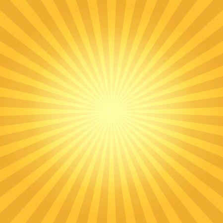 Vintage sun flare. Sun rays light background, vector radiation boom illustration, retro explosion abstract design Vecteurs