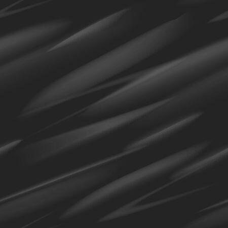 Dark surface carbon. Abstract black design metal fibre texture, effect industrial light steel, blackness vector illustration seamless pattern Illustration