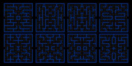 Pac man game maze set