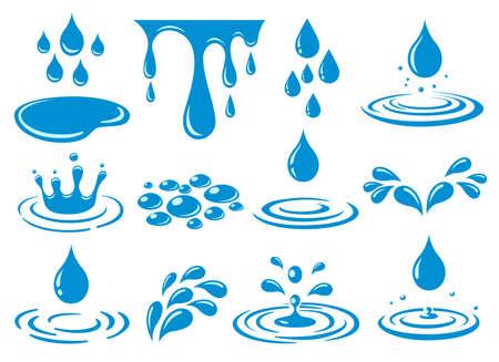 Cartoon water drop splash