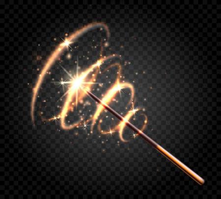 Fairytale magical wand Vector Illustratie