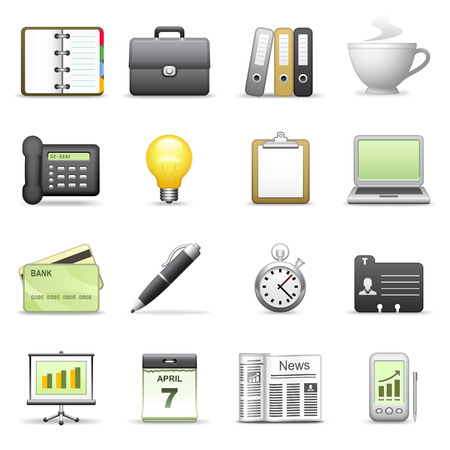 Stylized icons. Business. Vector