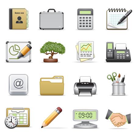 icono fax: Iconos de negocios, conjunto de 2.
