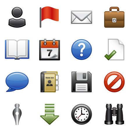 dattel: Stilisierten Icons set   Illustration