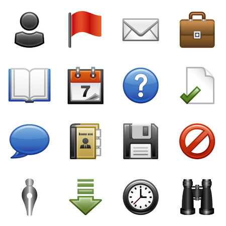 address book: Stylized icons set