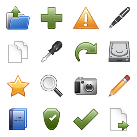 Stylized icons set 03 Vector