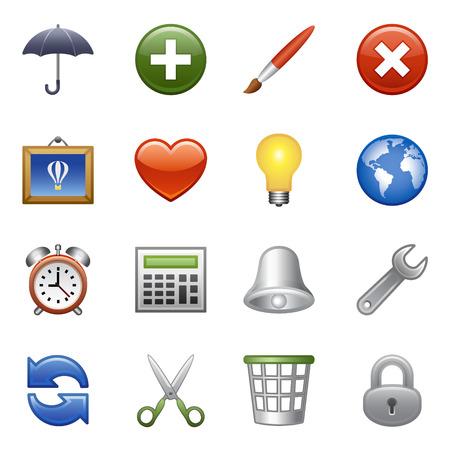 agregar: Conjunto de iconos estilizado