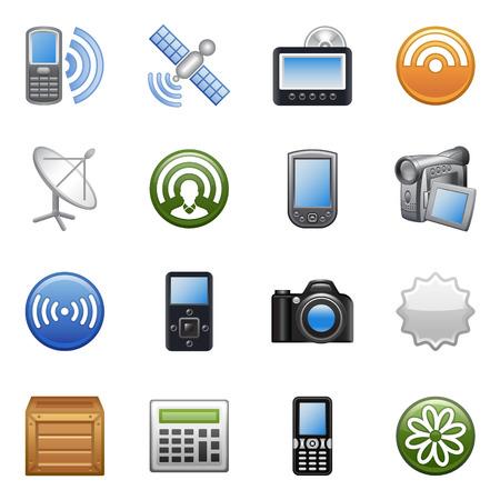 gsm phone: Stylized icons set