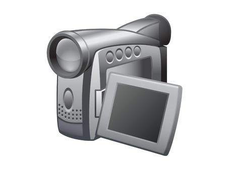 home video camera: Video camera. Realistic vector illustration.
