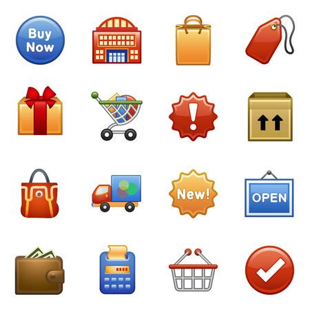 Stylized icons set Stock Vector - 8769018