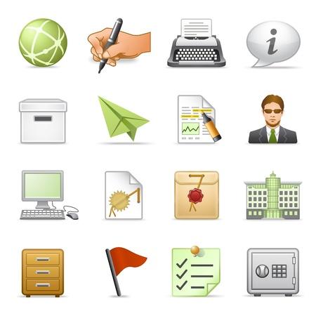 typewriter: Business icons, set 4. Illustration