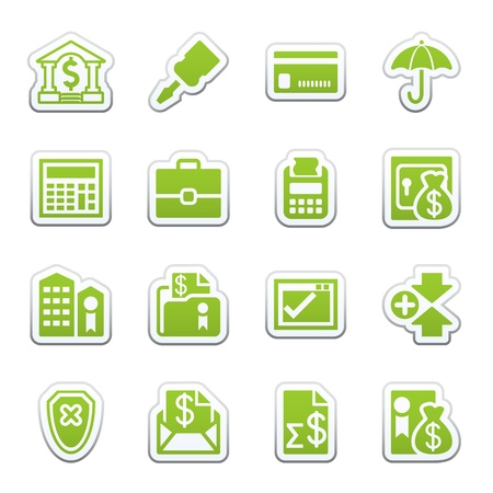 credit report: Banking web icons Illustration