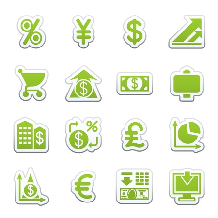 Finance web icons. Stock Vector - 9340373