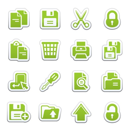 save as: Document web icons, set 1
