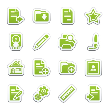 Document web icons, set 2 Stock Vector - 9340693