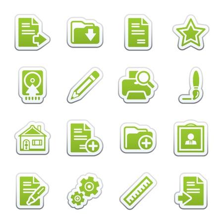 home moving: Document web icons, set 2 Illustration