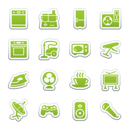 e commerce icon: Home appliances, set 2