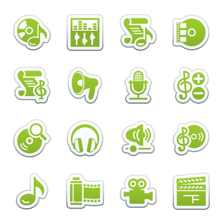 Audio video web icons. Stock Vector - 9340707