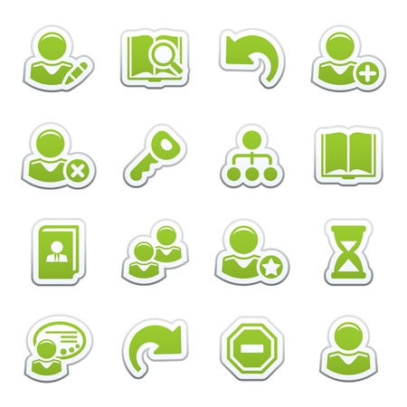 Users web icons Stock Vector - 9340691