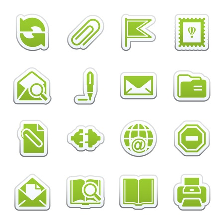 E-mail web icons. Vector