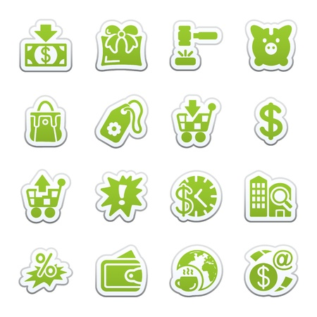 Commerce icons Stock Vector - 9340705