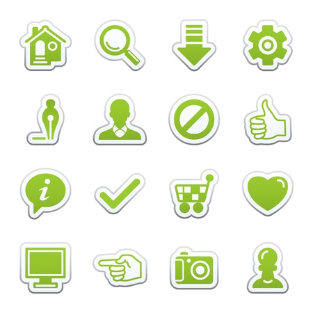 Basic web icons. Vector