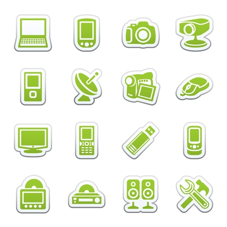 speakers: Electronics icons for web.
