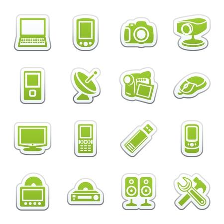 Icone di elettronica per il web.