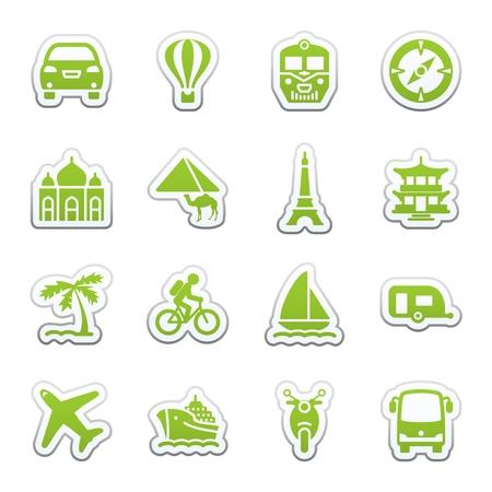 Iconos para web de viajes.