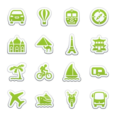 Travel icons for web. Vector