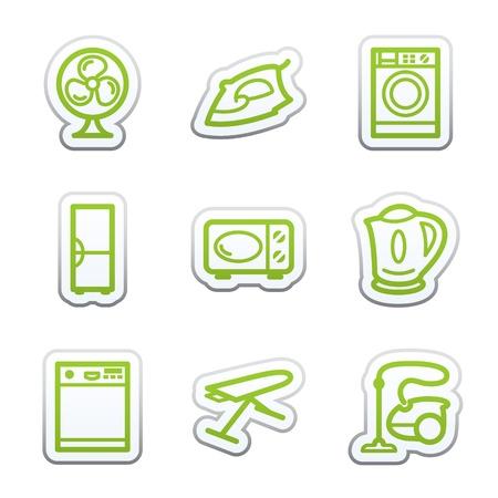 lavavajillas: Etiqueta de Internet 18 Vectores