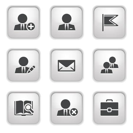 Gray button for internet 1 Stock Vector - 9393516